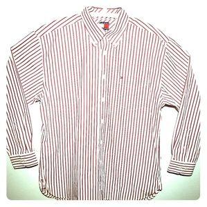 Tommy Hilfiger Button Down White Red Stripe